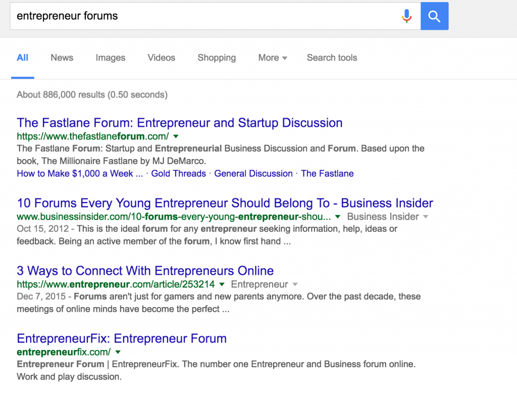 google-forums-freelance-search