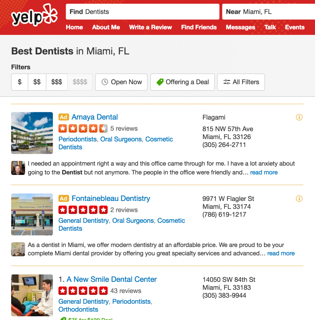 yelp-find-clients
